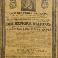 Convocatoria cultos Virgen Dolores 1839